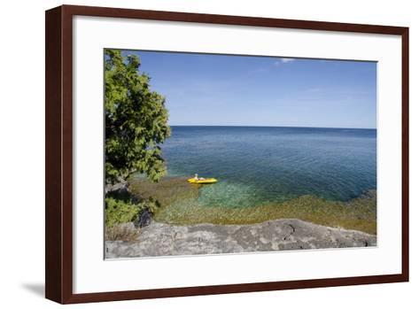 Cave Point County Park, Lake Michigan, Door County, Wisconsin, USA-Cindy Miller Hopkins-Framed Art Print