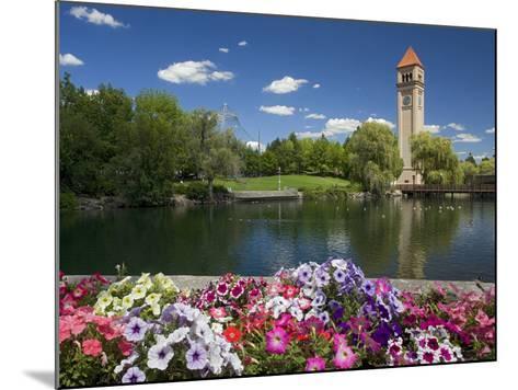 Clock Tower, Spokane River, Riverfront Park, Spokane, Washington, USA-Charles Gurche-Mounted Photographic Print