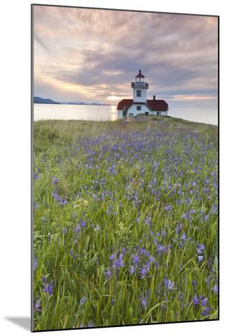 Sunset on Patos Island Lighthouse, San Juan Islands, Washington, USA-Jaynes Gallery-Mounted Photographic Print