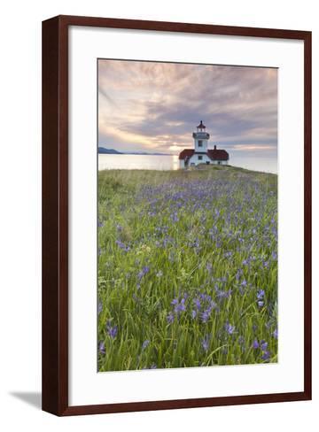 Sunset on Patos Island Lighthouse, San Juan Islands, Washington, USA-Jaynes Gallery-Framed Art Print