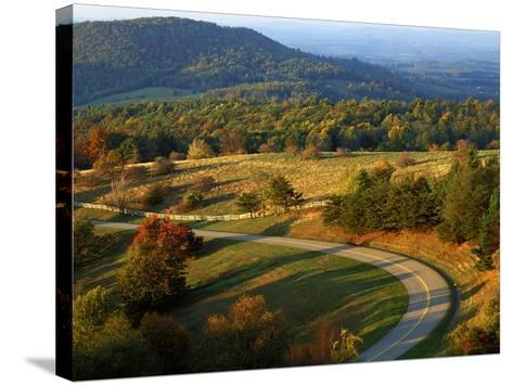 The Blue Ridge Parkway, Patrick County, Virginia, USA-Charles Gurche-Stretched Canvas Print