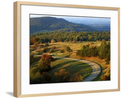 The Blue Ridge Parkway, Patrick County, Virginia, USA-Charles Gurche-Framed Art Print