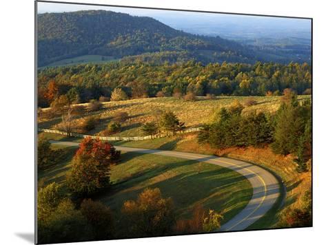 The Blue Ridge Parkway, Patrick County, Virginia, USA-Charles Gurche-Mounted Photographic Print