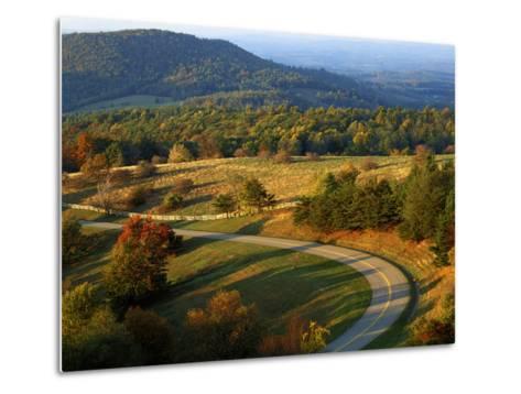 The Blue Ridge Parkway, Patrick County, Virginia, USA-Charles Gurche-Metal Print