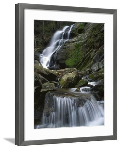 Crabtree Falls, Nelson Co, Virginia, USA-Charles Gurche-Framed Art Print