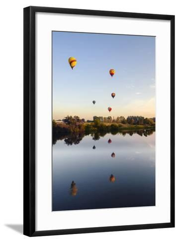 Prosser Balloon Rally Goes Aloft Each Summer, Prosser, Washington, USA-Richard Duval-Framed Art Print