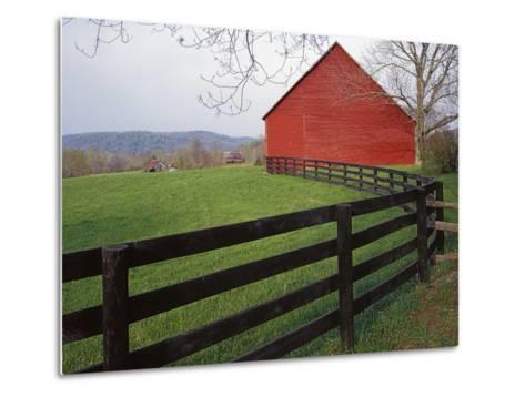 Barn Near Etlan, Virginia, USA-Charles Gurche-Metal Print