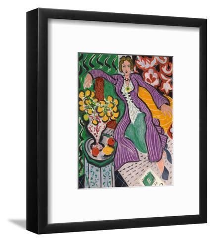 Woman in a Purple Coat, 1937-Henri Matisse-Framed Art Print