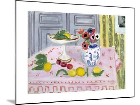 The Pink Tablecloth, 1925-Henri Matisse-Mounted Giclee Print