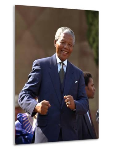 Nelson Mandela-John Parkin-Metal Print