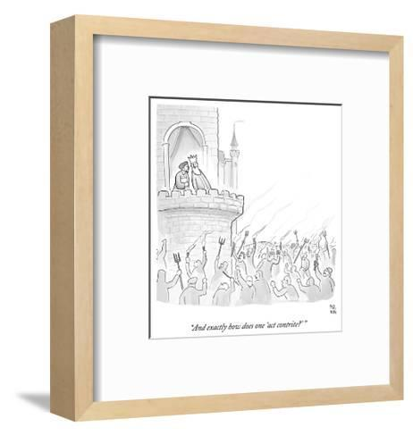 """""""And exactly how does one 'act contrite?'"""" - Cartoon-Paul Noth-Framed Art Print"""