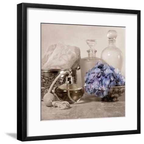 Hydrangea and Atomizer-Julie Greenwood-Framed Art Print
