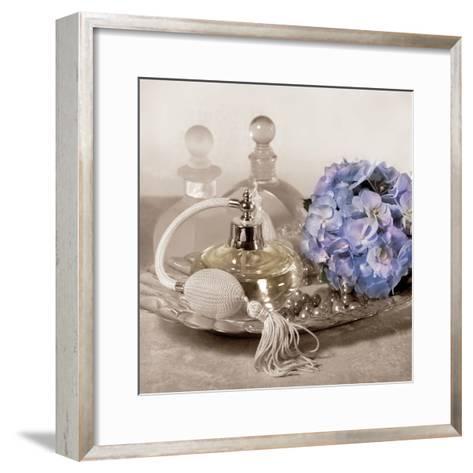 Hydrangea and Tray-Julie Greenwood-Framed Art Print