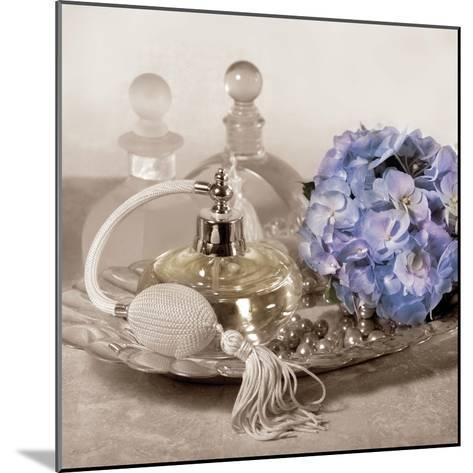 Hydrangea and Tray-Julie Greenwood-Mounted Art Print
