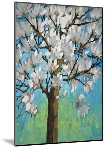 Magnolia in Bloom 1-J Charles-Mounted Art Print