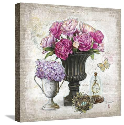 Vintage Estate Florals 1-Chad Barrett-Stretched Canvas Print