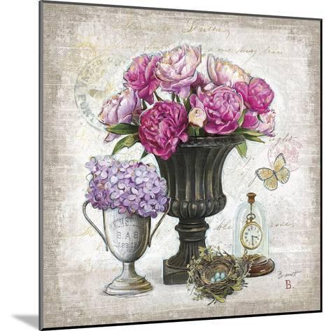 Vintage Estate Florals 1-Chad Barrett-Mounted Art Print