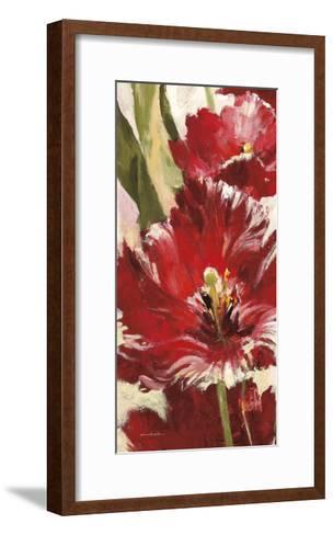 Jubilant Red Tulip Panel 1-Brent Heighton-Framed Art Print