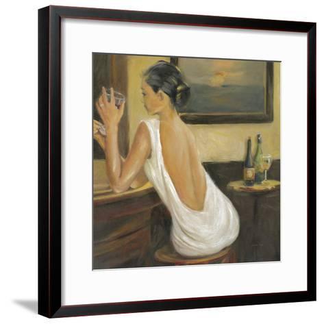 Woman in White 2-Sandra Smith-Framed Art Print