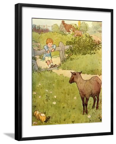 USA Baa Baa Black Sheep Book Plate--Framed Art Print