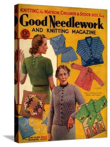 1930s UK Good Needlework and Knitting Magazine Cover--Stretched Canvas Print