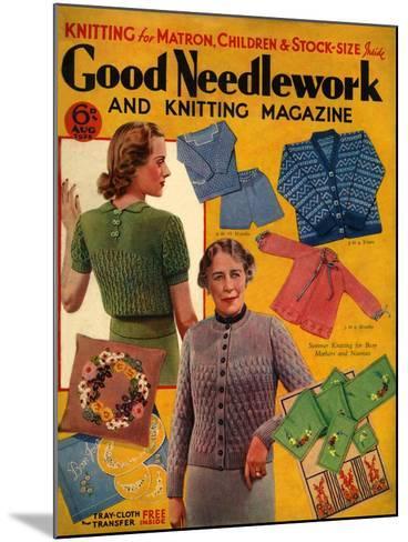 1930s UK Good Needlework and Knitting Magazine Cover--Mounted Giclee Print