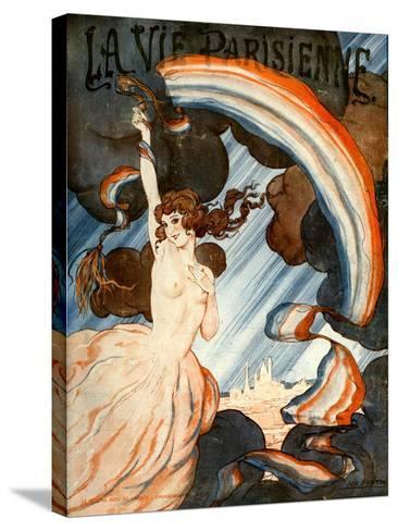 1920s France La Vie Parisienne Magazine Cover--Stretched Canvas Print