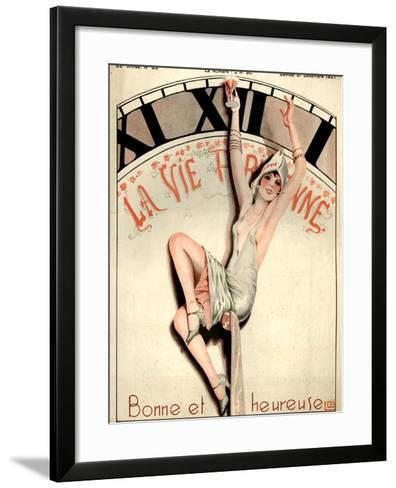 1920s France La Vie Parisienne Magazine Cover--Framed Art Print
