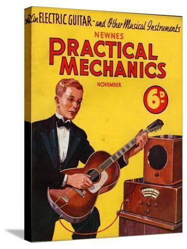 1930s UK Practical Mechanics Magazine Cover--Stretched Canvas Print