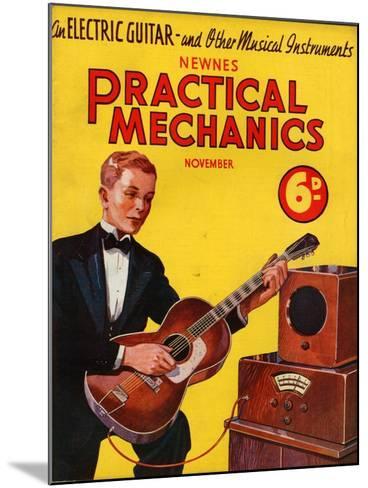 1930s UK Practical Mechanics Magazine Cover--Mounted Giclee Print