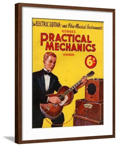 1930s UK Practical Mechanics Magazine Cover--Framed Art Print