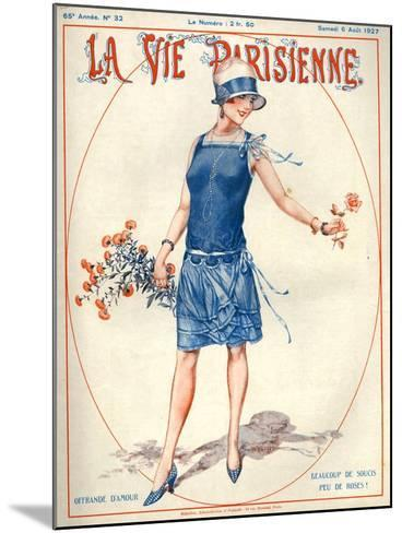 1920s France La Vie Parisienne Magazine Cover--Mounted Giclee Print