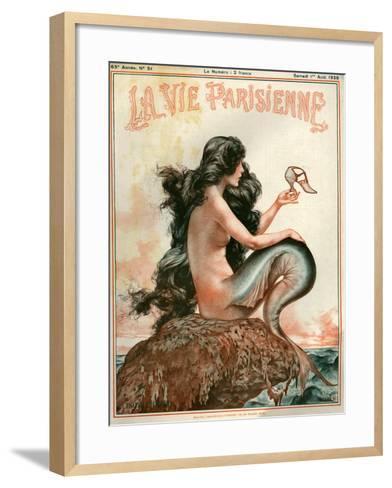 1920s France La Vie Parisienne Magazine Cover--Framed Art Print