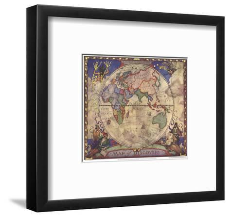 1928 Map of Discovery, Eastern Hemisphere-National Geographic Maps-Framed Art Print