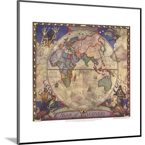1928 Map of Discovery, Eastern Hemisphere-National Geographic Maps-Mounted Art Print