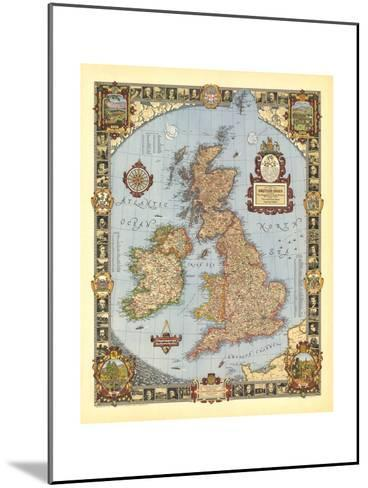 1937 A Modern Pilgrim's Map of the British Isles-National Geographic Maps-Mounted Art Print