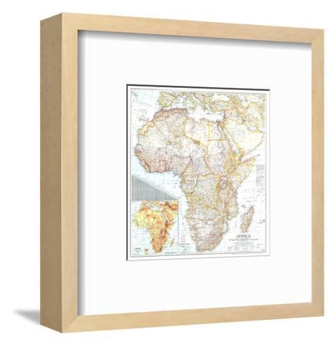 1943 Africa Map-National Geographic Maps-Framed Art Print