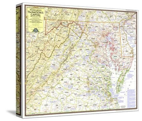 1956 Round About the Nation's Capital-National Geographic Maps-Stretched Canvas Print