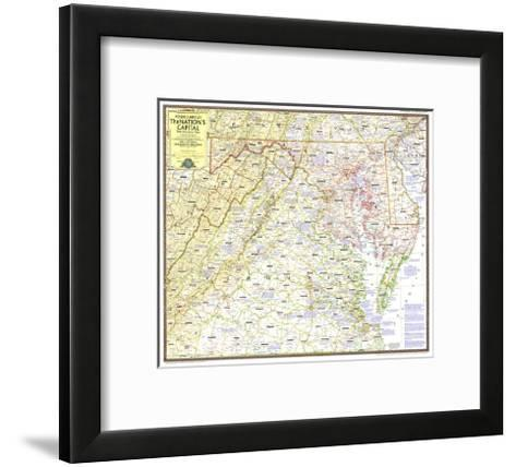 1956 Round About the Nation's Capital-National Geographic Maps-Framed Art Print