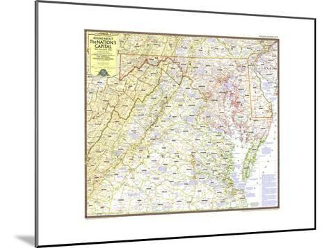 1956 Round About the Nation's Capital-National Geographic Maps-Mounted Art Print