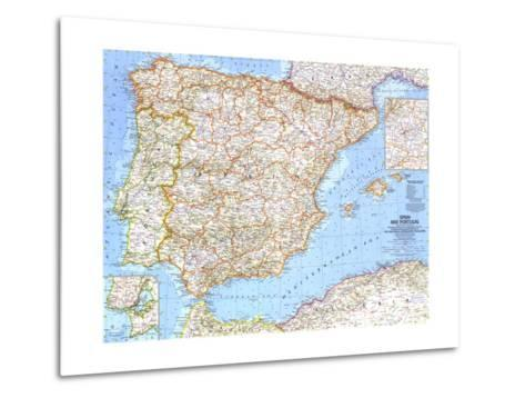 1965 Spain and Portugal-National Geographic Maps-Metal Print