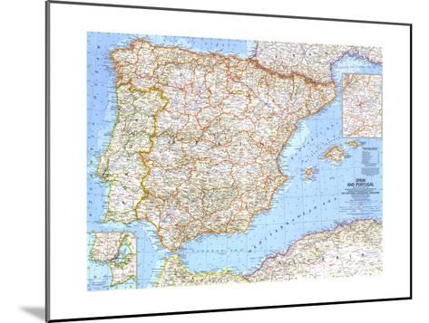 1965 Spain and Portugal-National Geographic Maps-Mounted Art Print