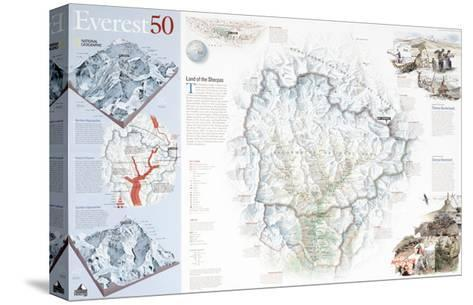 2003 Everest 50-National Geographic Maps-Stretched Canvas Print