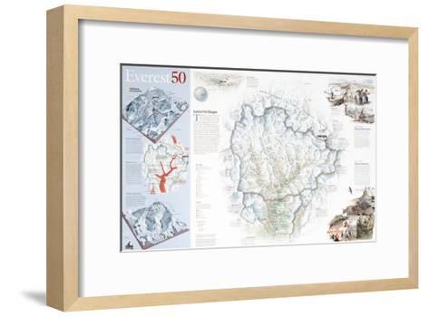 2003 Everest 50-National Geographic Maps-Framed Art Print