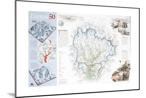 2003 Everest 50-National Geographic Maps-Mounted Art Print