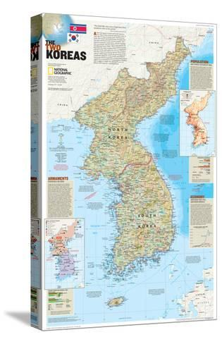 2003 The Two Koreas-National Geographic Maps-Stretched Canvas Print