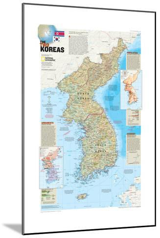 2003 The Two Koreas-National Geographic Maps-Mounted Art Print