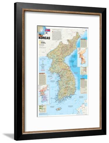 2003 The Two Koreas-National Geographic Maps-Framed Art Print