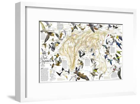 2004 Bird Migration Eastern Hemisphere Map-National Geographic Maps-Framed Art Print
