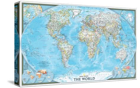 2004 World-National Geographic Maps-Stretched Canvas Print